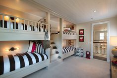 Dual Bunk Beds, Children's Bedroom- Plan 3