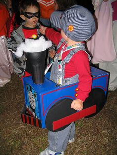 New baby boy halloween costumes thomas the train 59 ideas Halloween Train, Baby Halloween Costumes For Boys, Homemade Halloween Costumes, Holidays Halloween, Halloween Diy, Halloween 2017, Kid Costumes, Halloween Birthday, Thomas Costume