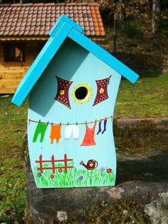 7011 Handpainted Monarch Birdhouse Product Detail Bird Houses