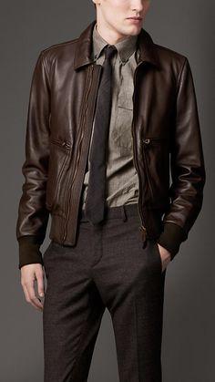 Burberry - Leather Bomber Jacket