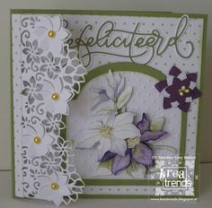 GiBa's Wenskaarten: Timeless Flowers....Mijn DT bijdrage voor Kreatren... 3d Cards, Cute Cards, Fancy Fold Cards, Die Cut Cards, Marianne Design, Card Tutorials, Stamping Up, Flower Cards, Wedding Cards