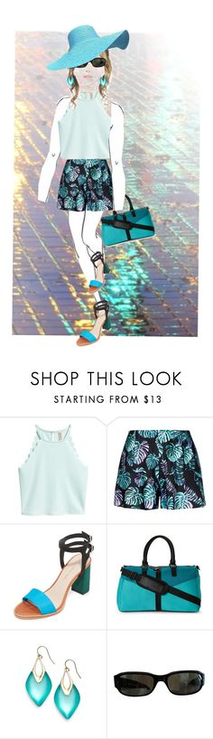 """""""Pretty Shorts.."""" by marlenajo-b ❤ liked on Polyvore featuring Loeffler Randall, Poverty Flats, Alexis Bittar, Persol and invisibledollsout"""