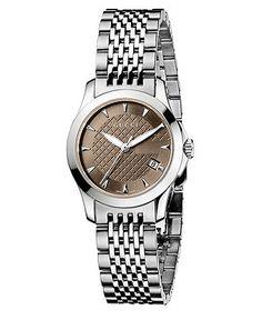 Gucci Watch, Women's Swiss Stainless Steel Bracelet 44mm YA126503 - Women's Watches - Jewelry & Watches - Macy's
