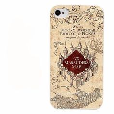 Keep Your Marauder's Map Close with this case for your iPhone. - Durable - Quality Hard Case - Easy Access to Ports - Available for iPhone 4 4s 4g 5 5s 5c 6 6s 6 Plus