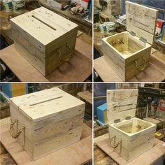 Wedding Gift Ideas 41 Wedding Card Box Ideas That Really Inspire Wooden Card Box Wedding, Wood Card Box, Diy Card Box, Gift Card Boxes, Wedding Boxes, Wedding Cards, Card Card, Wedding Ideas, Rustic Card Boxes