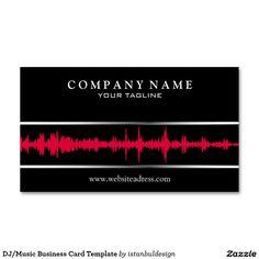 DJ Music Business Card Template Dj Cards Visit