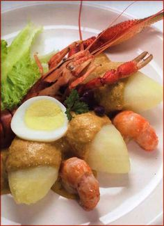 Ocopa shrimp (6-8 servings)