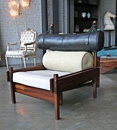 "Pair of Sergio Rodrigues ""Tonico"" Armchair Sofa Chair, Armchair, Interior Architecture, Interior Design, Take A Seat, Retro Home, Mid Century Furniture, Furniture Making, Mid-century Modern"