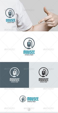 Mousee Logo by Kapacyko Fully Editable Logo, AI, EPS, CDR, PNG files Used free font link in the zip folder Easy work and good luckDont forget to rate if