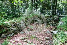 Photo about An old dry laid stone foundation in the woods bordering Silver Lake in Vermont. Image of silver, woods, bordering - 75643981 Old Stone, Silver Lake, Vermont, Old World, Stepping Stones, Woods, Foundation, Stock Photos, Architecture