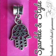 ✨Hamsa bracelet charm ✨ ✨Silver tone hamsa bracelet charm. Fits Pandora and Pandora style bracelets. Sparkle & Style Jewelry Bracelets
