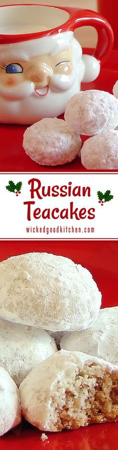 Russian Teacakes (best ever) ~ Simply the BEST ever! Buttery, with plenty of walnuts and vanilla for a rich and flavorful shortbread cookie, never dry. Scrumptious gluten free option included using our own GF flour blend. | classic #Christmas #Holidays cookie recipe