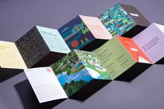 The folks at Tractorbeam have done it again. This is an amazing example of… Brochure Folds, Design Brochure, Brochure Layout, Corporate Brochure, Corporate Design, Brochure Template, Pamphlet Design, Leaflet Design, Web Design