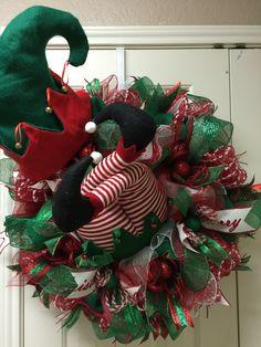Elf Crash wreath by Twentycoats Wreath Creations