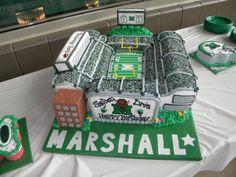 Marshall University Football Stadium Cake