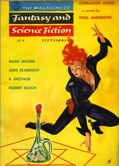 """The Magazine of Fantasy and Science Fiction, September 1956. Cover art by Kelly Freas. Twenty-one years later Freas would design the cover to Queen's """"News of the World"""" album."""