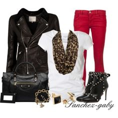 Leather Jacket & Studded Boots