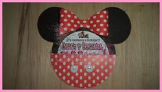 Como hacer invitacion de minnie en cartulina - DIY