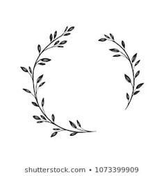 Find wreaths stock images in HD and millions of other royalty-free stock photos, illustrations and vectors in the Shutterstock collection. Flower Embroidery Designs, Embroidery Patterns, Mini Drawings, Wreath Drawing, Geniale Tattoos, Flower Graphic, Bullet Journal Art, Floral Logo, Flower Doodles