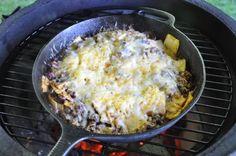Big T's Big Green Egg Recipe Blog: CAST IRON SKILLET BURRITOS