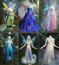 Can it be Spring yet? Which of these Firefly Path gowns would you choose to wear… Can it be Spring yet? Which of these Firefly Path gowns would you choose to wear on the first day of Spring? Wings by Outfits Primavera, Fantasy Costumes, Cosplay Costumes, Fairy Costumes, Olaf Costume, Costume Makeup, Pretty Dresses, Beautiful Dresses, Fantasy Gowns