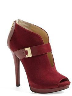 MICHAEL Michael Kors 'Guiliana' Peep Toe Bootie (Women) on shopstyle.com
