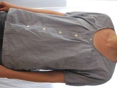 a new blouse from an old men's shirt from the artful parent