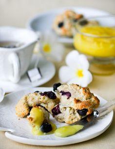receta para blueberry scones desayuno té tea time recipe breakfast miraquechulo
