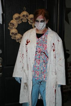 A zombie doctor on Halloween