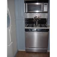 Faux stainless steel film for refacing appliances.  tn_elizabeth_kitchen_stainless_stove_and_microwave_2.jpg
