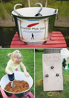 Magical Peter Pan and Neverland Birthday Party: Game Idea- Hook Ring toss