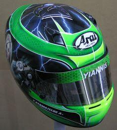 Hand Painted Arai Kart Helmet #122 ~ Helmets4Fun - Hand Painted Helmets