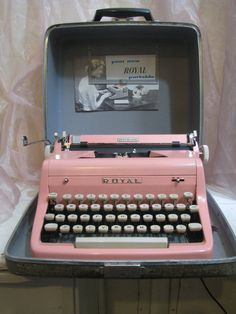 Collectors Dream 1958 PINK Royal typewriter in by Lavendernlace, etsy