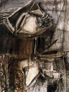 See this image on Stuart Sutcliffe Art: Untitled, Late Liverpool Series Oil on Board x in. image / x in. The Beatles 1960, Stuart Sutcliffe, The Quarrymen, Art Through The Ages, Summer Painting, Great Bands, Shades Of Black, Beautiful Artwork, Art Images