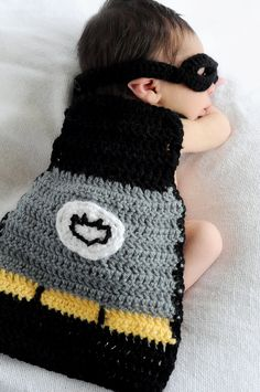 Baby batman and mask costume/ picture prop. If Nathan ever gets a baby brother or sister