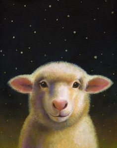 Sheep Portrait  Counting Sheep  Roquefort от CuriousPortraits