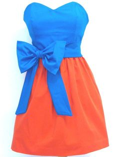 Gameday dresses. Available in all SEC team colors & a variety of styles. This is the UF Aimee dress. $158