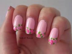 french nails with flowers | Nail Art Ideas