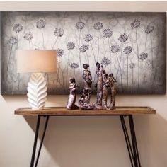 http://www.nuryba.com/ Cuadro Moderno Decorativo Plata Flores I, lienzo pintura al óleo