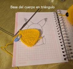 Peluche Pikachu amigurumi | CrochetyAmigurumis.com Pikachu, Pokemon, Pot Holders, Base, Gifts For Children, Free Pattern, Crochet Throw Pattern, Plushies, Tejidos