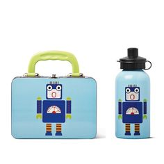 Robot lunchbox and bottle
