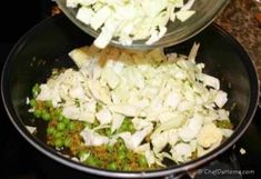 As a flavorful vegetarian side or meat-less main course, this vegan and gluten free Indian Curry Cabbage keeps dinner healthy and delicious!Cabbage (Pata Gobi) Matar (Peas) Sabzi (or sabji) is very. Cabbage Curry, Indian Curry, Indian Food Recipes, Feta, Vegetarian, Dinner, Healthy, Dining, Food Dinners