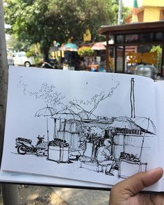 A spot near by Tanjung Priok Station #Jakarta #sketch #sketching #sketchbook #sketchwalker #quicksketch #wego #urbansketchers