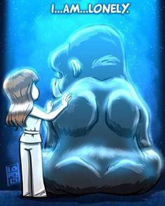"Lordmesa Art — ""Lonely"" ☹️☹️ #theflash #grodd #gorillagrodd..."