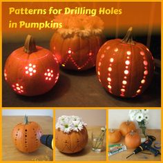 Patterns for Drilling Holes in Pumpkins
