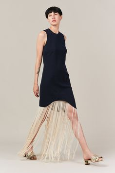 Nomia - curved fringe dress