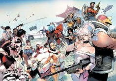 All-Star poster of all the creator-owned characters of Rick Remender by Bengal *