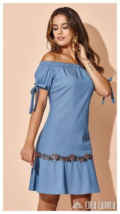 You can wear casual clothes, blue denim dresses, summer clothes. Straight and blue denim clothes with straps. Simple Dresses, Cute Dresses, Casual Dresses, Short Dresses, Fashion Dresses, Summer Dresses, Denim Dresses, Casual Clothes, Summer Clothes