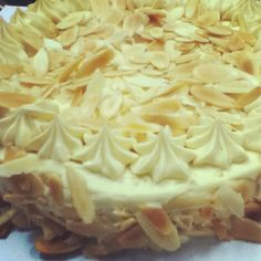 Ginoise with caramel buttercream