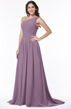 66ea6c7efd ColsBM Kiana Mauve Gorgeous Zipper Chiffon Sweep Train Pleated Evening  Dresses Color Swatches